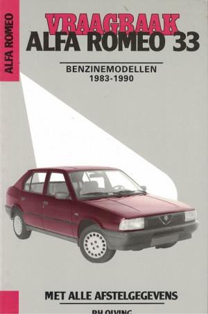 Vraagbaak Alfa Romeo 33 1983-1990. Benzinemodellen