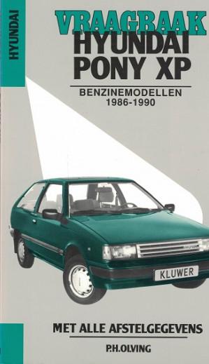 Vraagbaak Hyundai Pony XP 1986-1990. Benzinemodellen