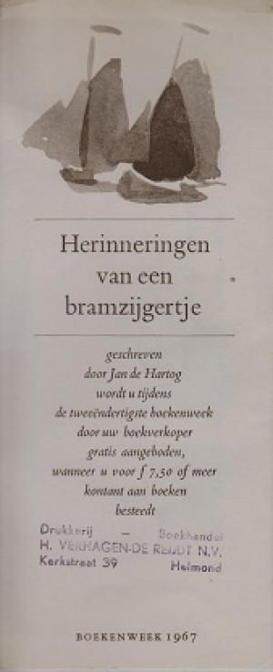 Boekenlegger boekenweekgeschenk 1967