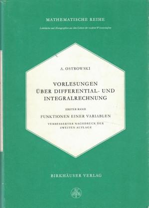Vorlesungen über Differential- und Integralrechnung.