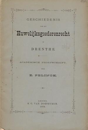 Geschiedenis van het huwelijksgoederenrecht in Drenthe