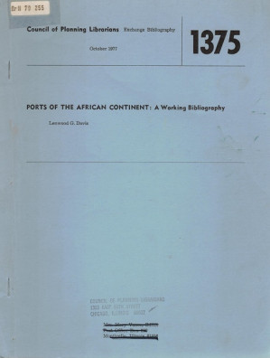 Ports of the African continent: a working bibliography
