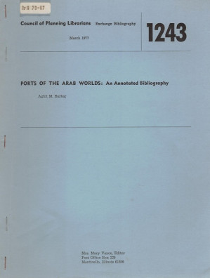 Ports of the Arab Worlds: an annotated bibliography