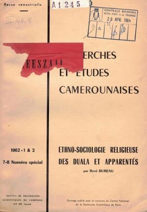 Recherches et etudes Camerounaises