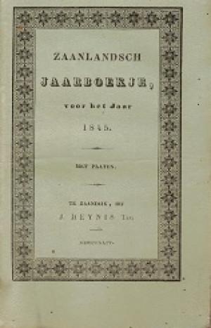 Zaanlandsch Jaarboekje voor het jaar 1845