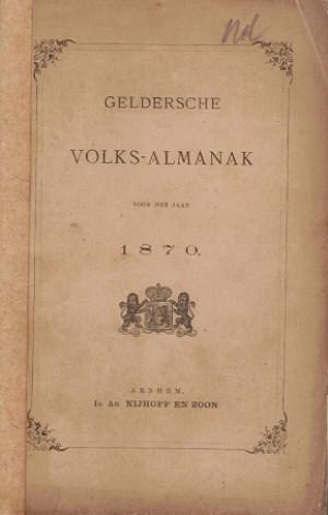 Geldersche Volksalmanak 1870