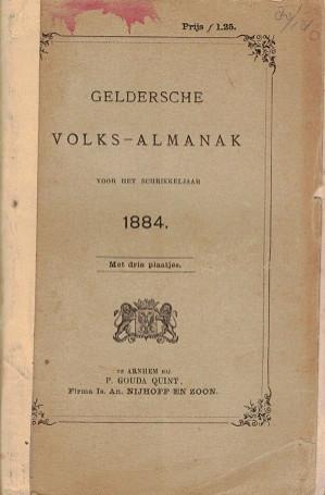 Geldersche Volksalmanak 1884