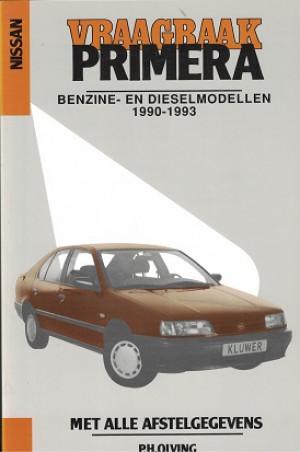 Vraagbaak Nissan Primera 1990-1993. Benzine en dieselmodellen