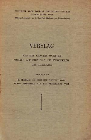 Verslag van het congres over de sociale aspecten van de inpoldering der Zuiderzee