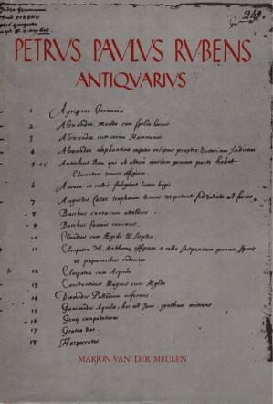 Petrus Paulus Rubens Antiquarius. Collector and copyist of antique gems