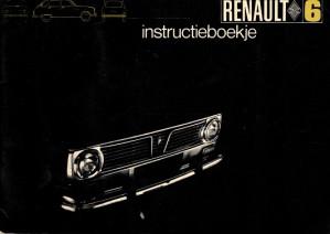 Renault 6. Instructieboekje