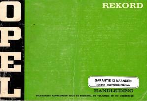 Opel Rekord. handleiding