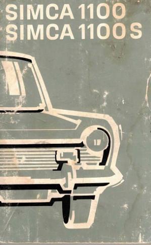 Simca 1100 - Simca 1100S. Gebruiksaanwijzing