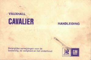 Vauxhall Cavalier. handleiding