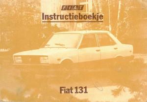 Fiat 131. Instructieboekje