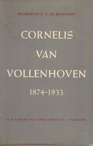 Cornelis van Vollenhoven 1874-1933.