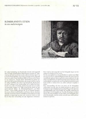 Rembrandts etsen in zes onderwerpen