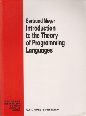 Introduction to the theory of programming languages